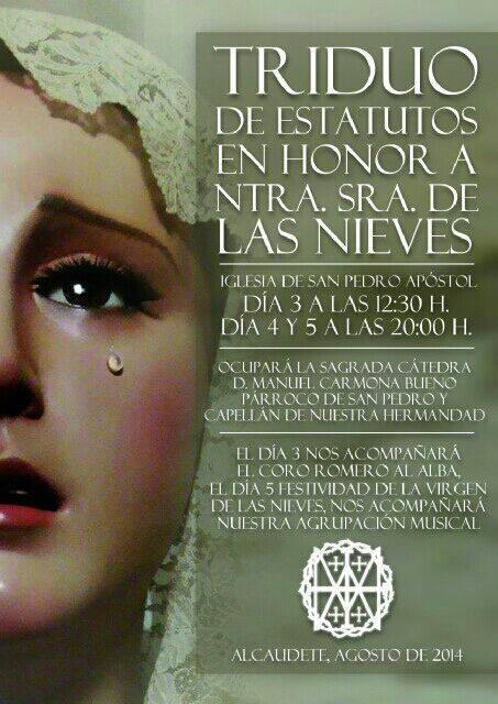 Triduo Virgen 2014