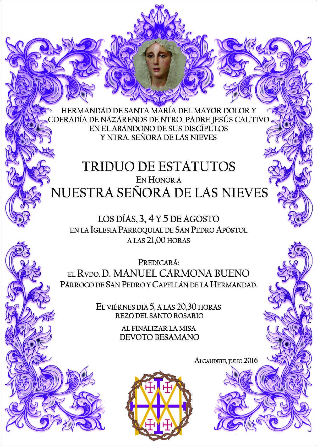 Cartel Triduo Nieves '16 (1)